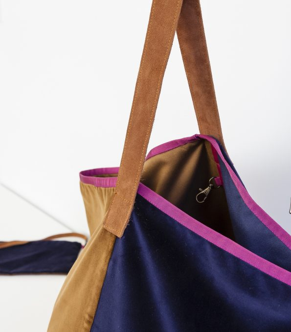 bolso terciopelo tipo saco